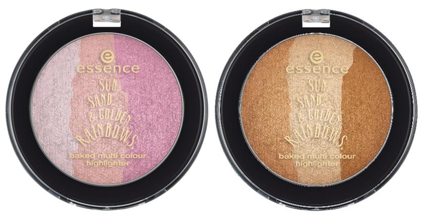 Essence baked multio colour highlighter trend edition sun sand & golden rainbows