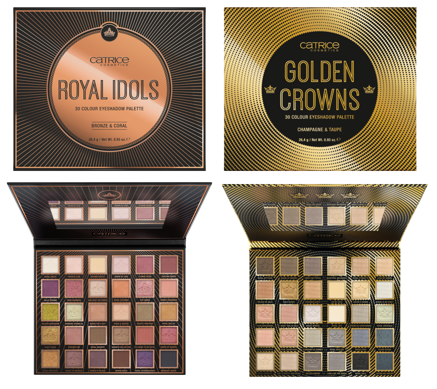 CATRICE Golden Crowns Royal Idols Eyeshadow Palettes - PREVIEW │CATRICE & ESSENCE LIMITED EDITION 'ROYAL PARTY'
