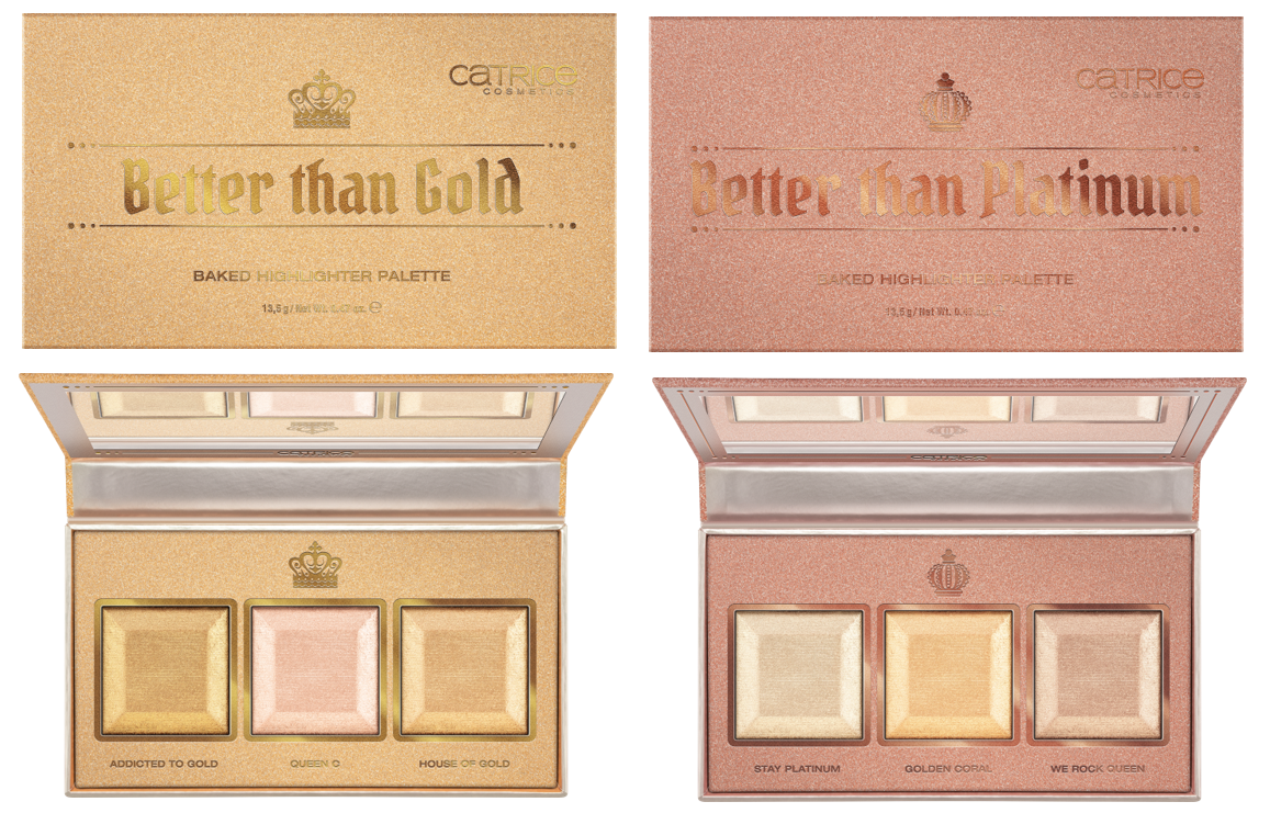 CATRICE Highlighter Palettes - PREVIEW │CATRICE & ESSENCE LIMITED EDITION 'ROYAL PARTY'