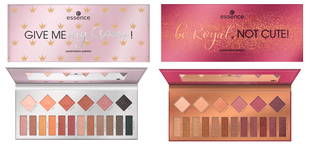 Essence be royal not cute give me my crown Eyeshadow Palettes - PREVIEW │CATRICE & ESSENCE LIMITED EDITION 'ROYAL PARTY'