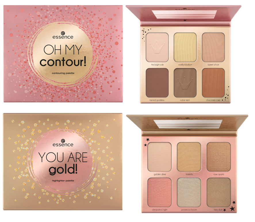 Essence contouring highlighter palettes - PREVIEW │CATRICE & ESSENCE LIMITED EDITION 'ROYAL PARTY'