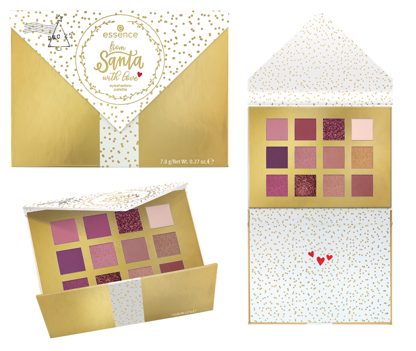 ESSENCE TREND EDITION FROM SANTA WITH LOVE EYESHADOW PALETTE - PREVIEW │ESSENCE TREND EDITION 'FROM SANTA WITH LOVE'