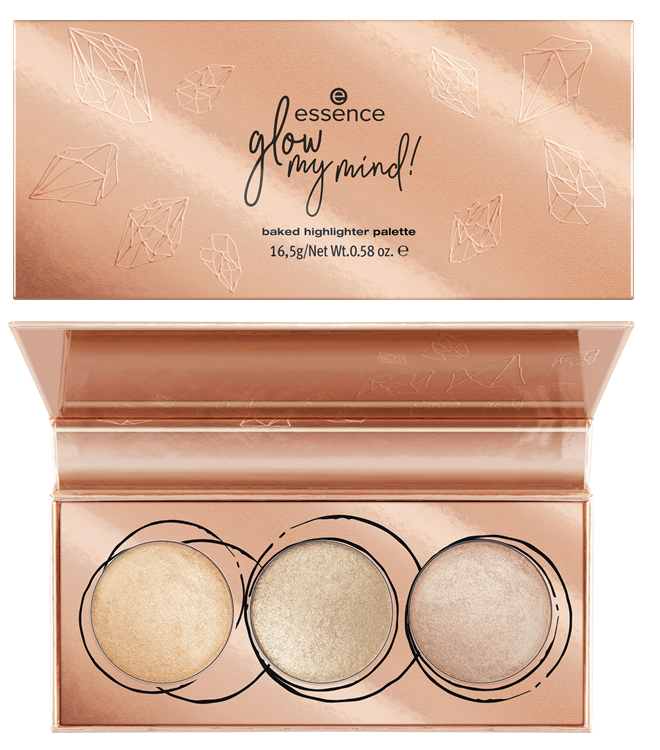 ESSENCE TREND EDITION GLOW MY MIND – BAKED HIGHLIGHTER PALETTE - PREVIEW │ESSENCE TREND EDITION 'GLOW MY MIND!'